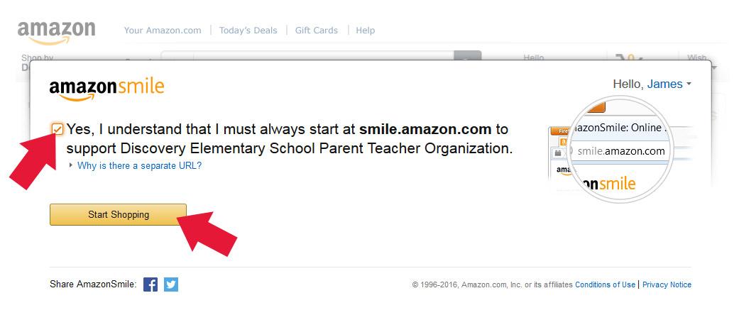 Amazon Smile Step 3